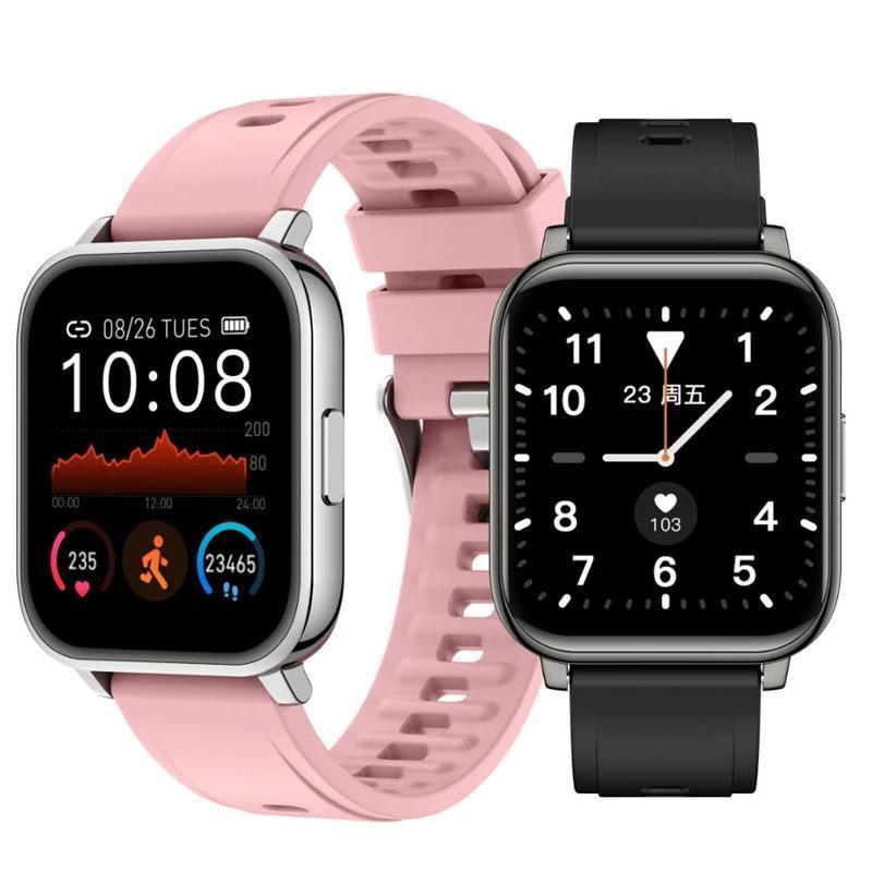 Женщины мужские часы 1.4 дюймов полный сенсорные смарт-часы напоминание о вызове SmartWatch для Android iOS
