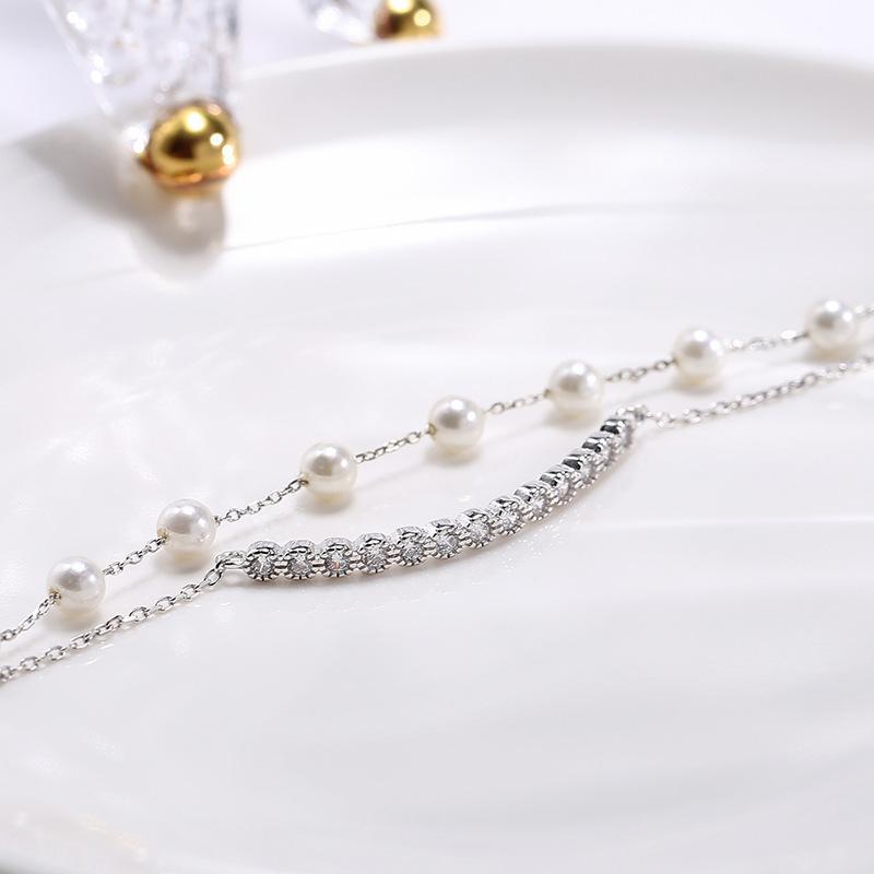 Bijoux double couche chanceux bracelet bracelet femelle S925 Sterling Argent Bracelet Personnalité Accessoires cadeau D021