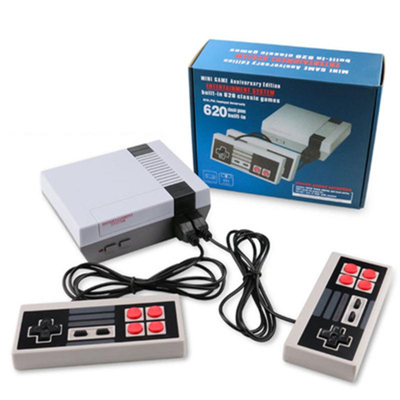 Mini TV Controllers 620 500 Game Console Video Handheld For NES Games Consoles US UK EU plug With Retail Box
