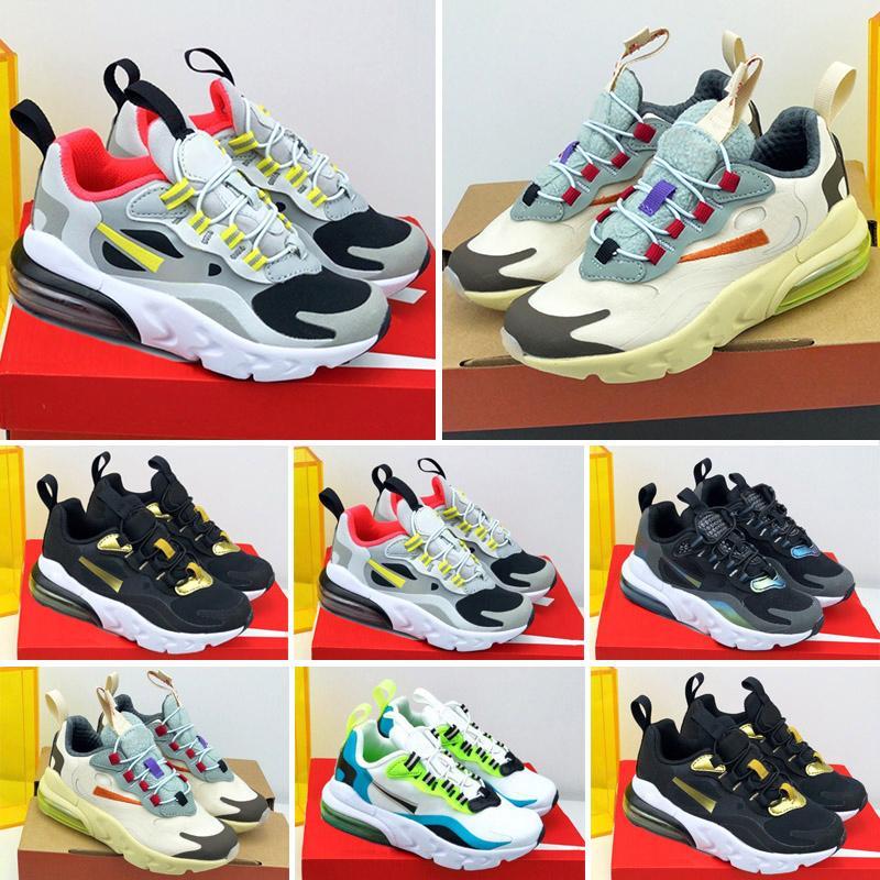 Max 270 React Ucuz 2019 Bebek Çocuk Huarache Koşu Ayakkabıları Yürüyor Çocuk Huaraches Üçlü Beyaz Siyah Spor Erkek Gilirs Eğitmenler Sneakers ...