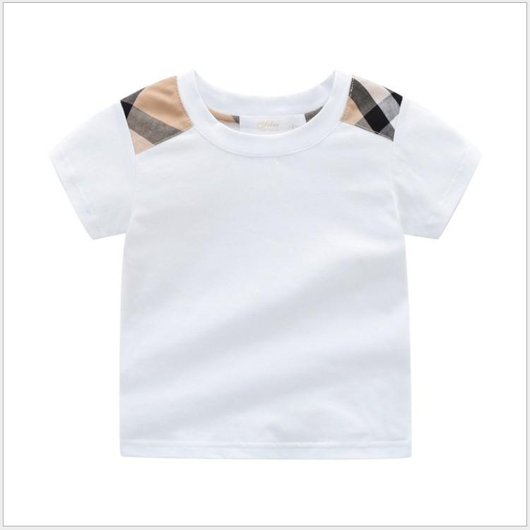 Grande Qualité bébé Baby Boys Summer manches courtes T-shirts en coton Enfants Tops T-shirt pour garçon pour enfants