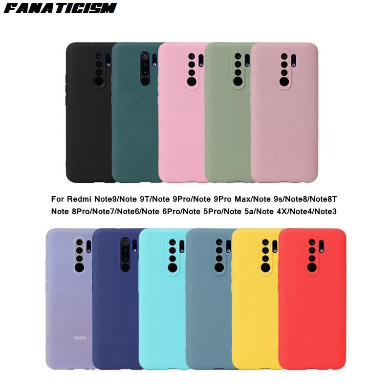 حالات ملونة ماتي ل Xiaomi Redmi Note 9 9T 9Pro ماكس 9S 8 8T 8Pro 7 6 6Pro 5Pro 5A 4X Note4 3