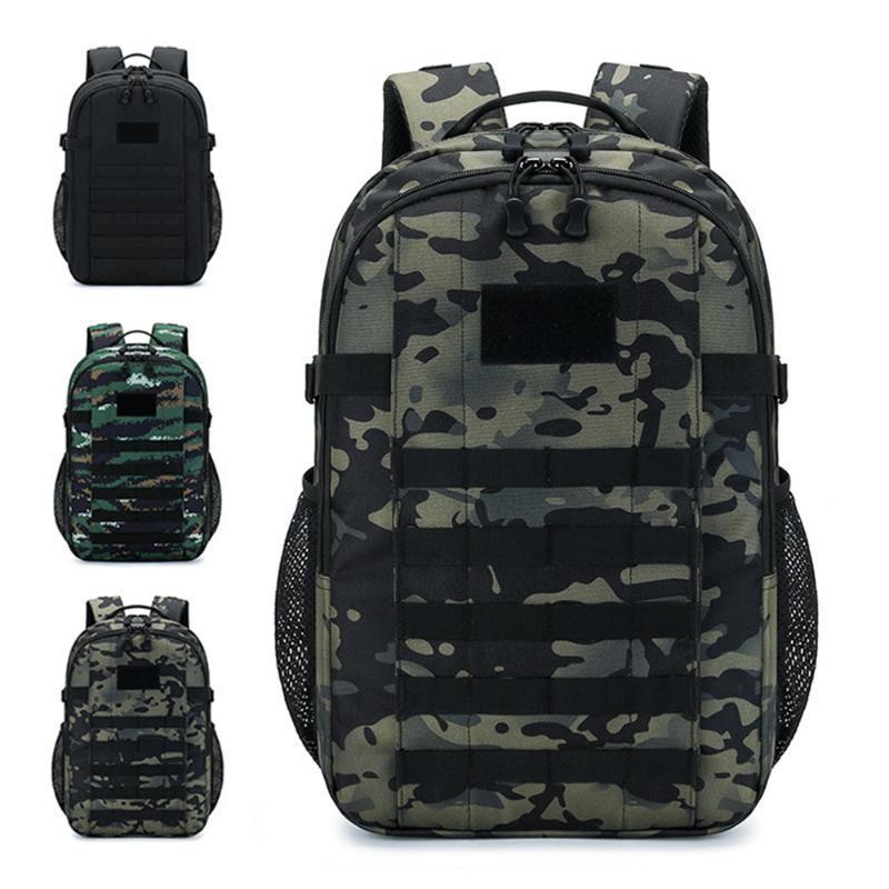Camouflage tactique imperméable sac à dos hommes Sprots Sac de voyage Militaux de plein air Millionnaire Mâle Alpinisme Randonnée Escalade Camping X333A Sacs