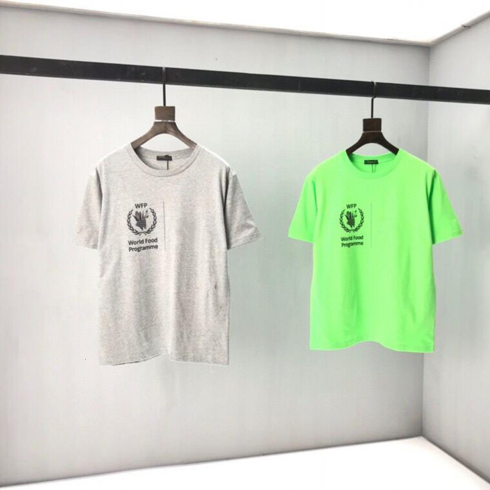 Primavera primavera nuova lettera stampa stampata t-shirt a maniche corte versione alta versione ad alta versione in cotone T-shirt da uomo Hip-Hop Top casual P112