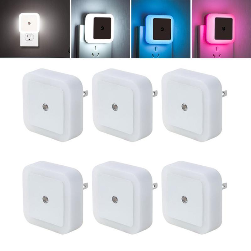 Gece Işıkları 2/4/6 adet LED Işık Mini Kablosuz Sensör Kontrolü AB ABD Plug Nightlight Lamba Çocuklar Çocuklar Için Oturma Odası Yatak Odası Aydınlatma