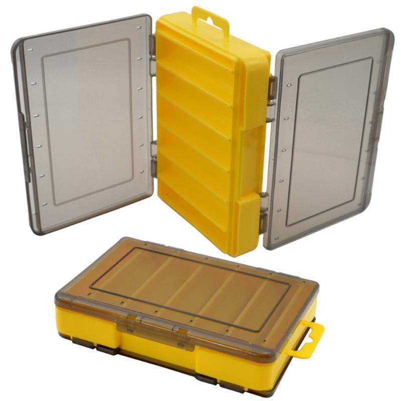 1214 Zimmer doppelseitig Reversible Lure Case Kunststoff Köder Jig Aufbewahrungsbox Hohe Festigkeit Angelgerät Zubehör Zubehör