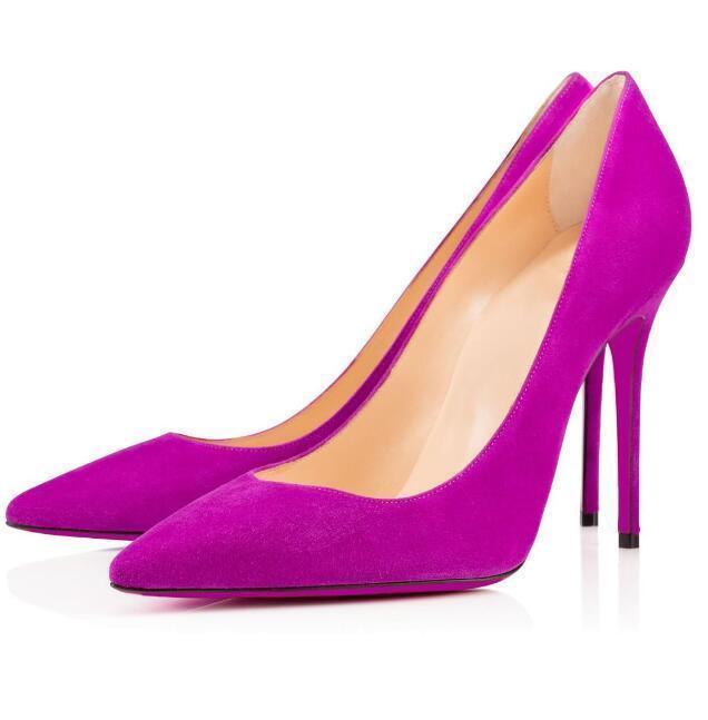 Designer Red Bottom Sapatos Femininos Altos Saltos Nude Colorido Sandálias Points Moda Banquete para fora Party Simples e generoso