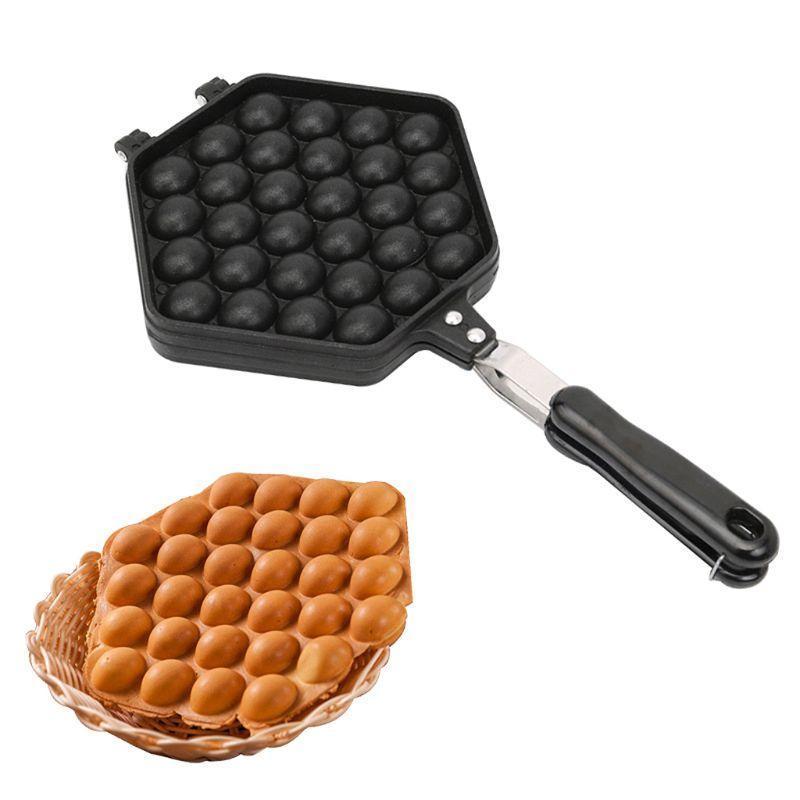 Moldes de cozimento QQ Bubble Bubble Bolo Pan Waffle Maker Placa de molde não-vara DIY