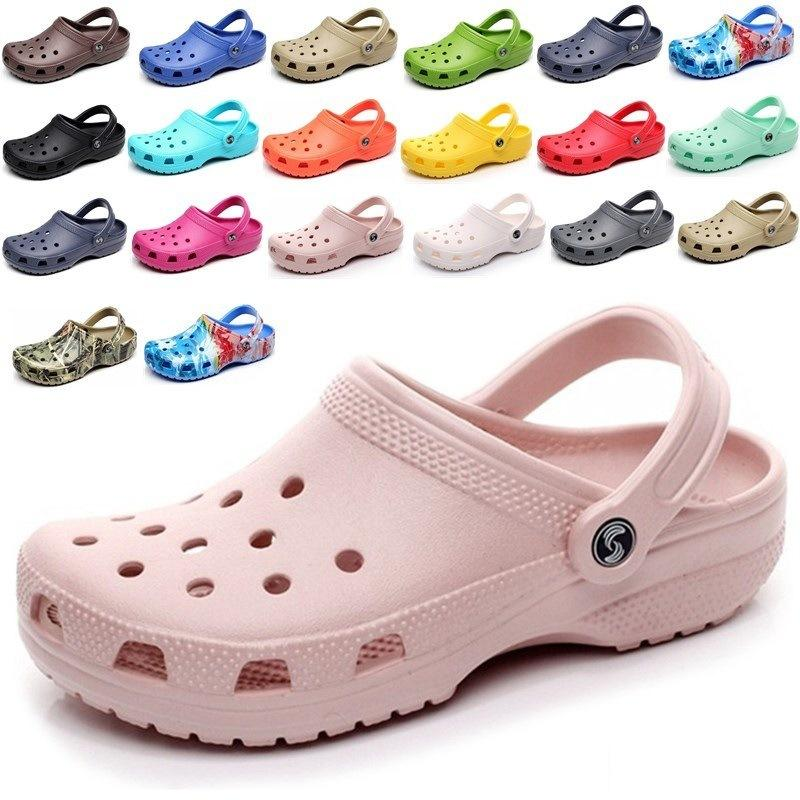 Silhu Slip on Casual Beach Clogs Zapatos impermeables Mujeres Classic Lamering Clogs Hospital Mujeres Trabajo Sandalias médicas