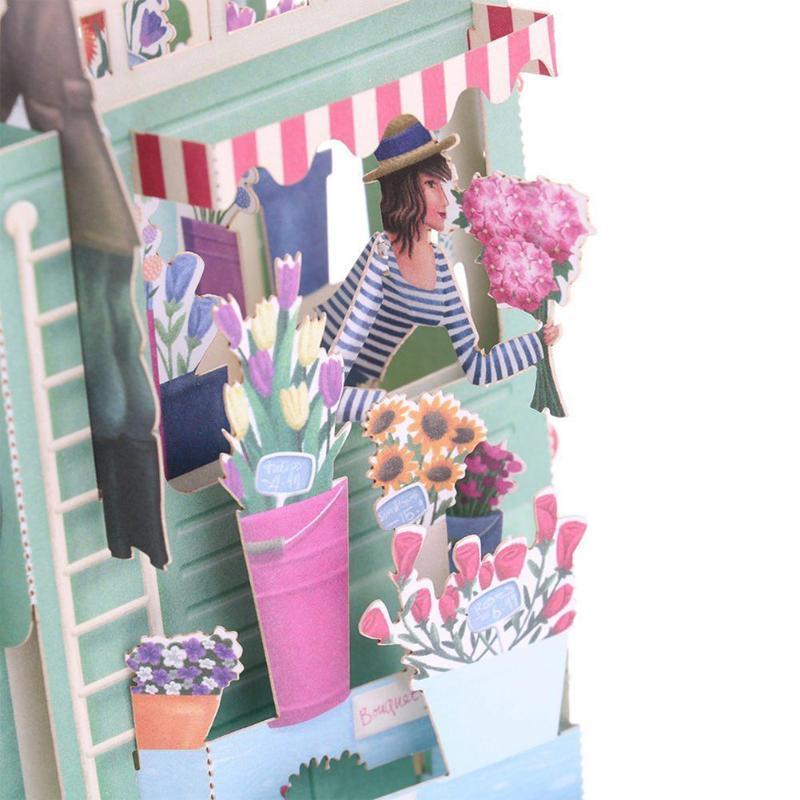 Greeting Cards Love 3D Stereo Card Valentine's Day Gift Birthday Postcard Wedding Envelope Sticker Anniv Invitation B4K7