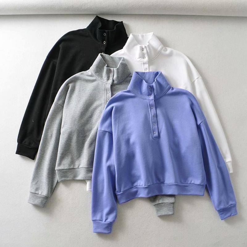 Damen Hoodies Sweatshirts Wnter Kleidung Übergroße Hoodie Frauen Koreaner Vintage Streetwear Drehen Kragen Kawaii Langarm