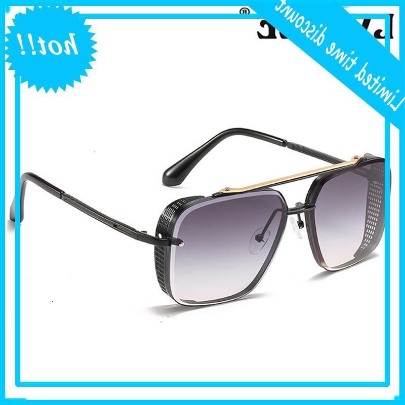 Lvkee 2021 Мода Маха Семь Стиль Стиль Градиент Женщины / Мужчины Винтаж Огненный дизайн УВ400 Солнцезащитные очки для мужчин Глаза Солнца