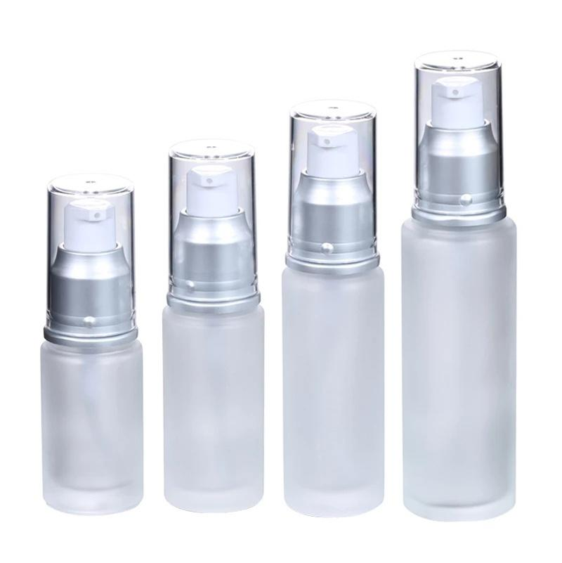Frosted Glass Bottle Perfume Spray Bottles Empty Cosmetic Lotion Pump Containers Jars 20ml 30ml 40ml 50ml 60ml 80ml 100ml