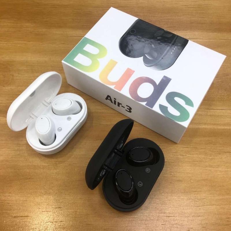 AIR-3 TWS EAR BUDS 무선 미니 블루투스 이어폰 헤드폰 헤드셋 Android Samsung iPhone 스마트 폰용 마이크 스테레오 V5.0