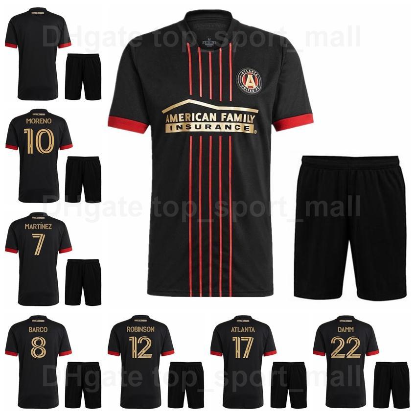 MLS 21-22 Atlanta United FC Soccer 8 Ezequiel Barco Jersey Set 5 Santiago Sosa 4 Anton Walkes 23 Jake Mulraney Camisa de Futebol Kits