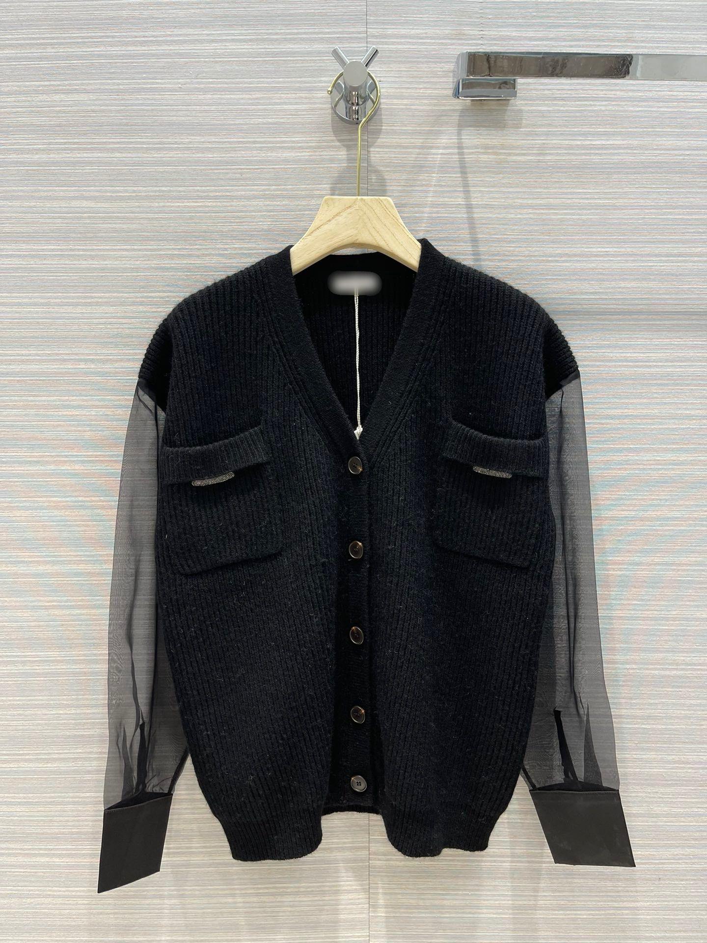 Milan pist kazak 2021 V boyun kadın kazak yüksek son baskı jakarlı hırka tasarımcı kazak 0630-1