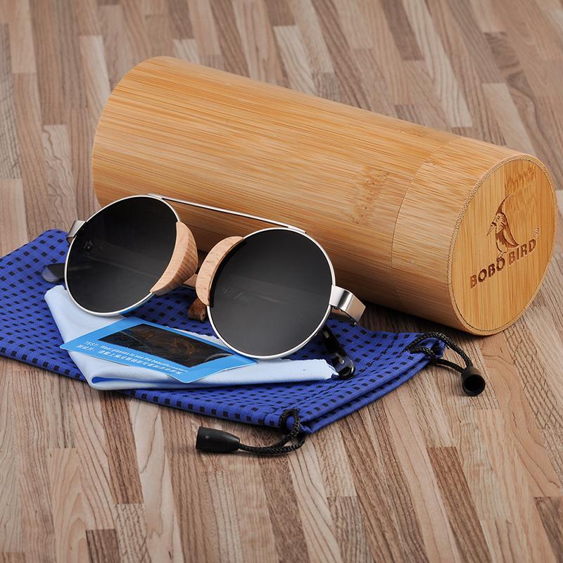 Lunettes de soleil en bois de lentille d'oiseau Bobo pour hommes femmes femmes de luxe lunettes de soleil lunettes UV400 nuances lunettes Oculos de sol féminin Dropship
