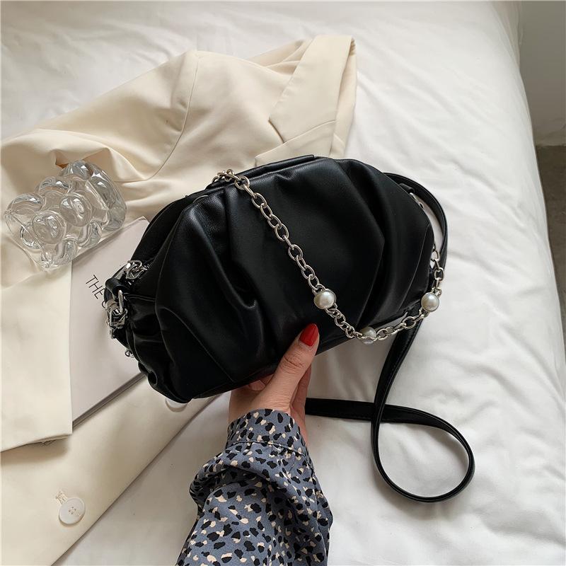 2021 المرأة الأزياء حقيبة الكتف سحابة حقيبة يد جودة عالية بو الجلود سلسلة crossbody