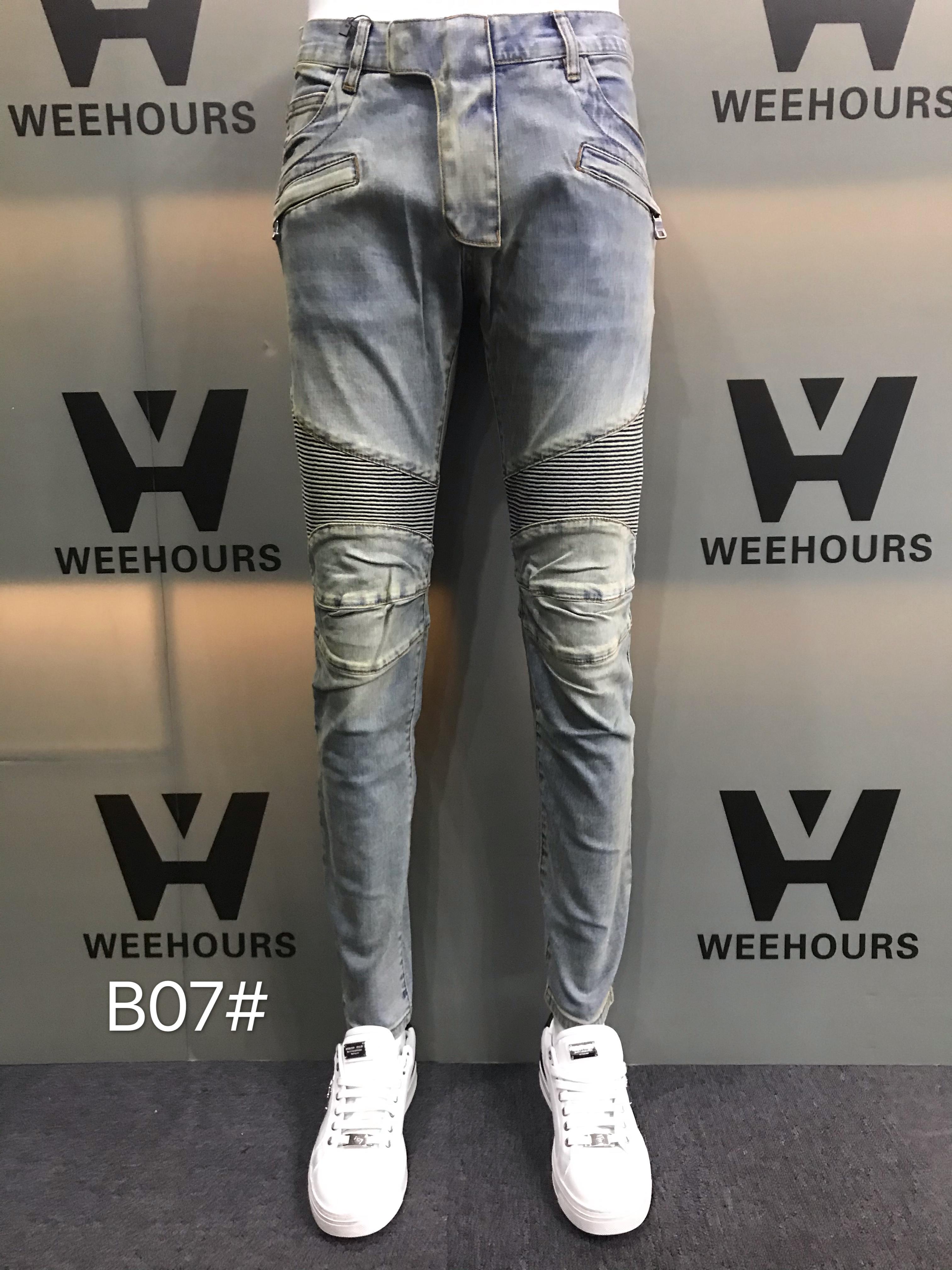 Jeans de hip-hop casuais masculinos e femininos atualmente à venda calças de luxo B07-06