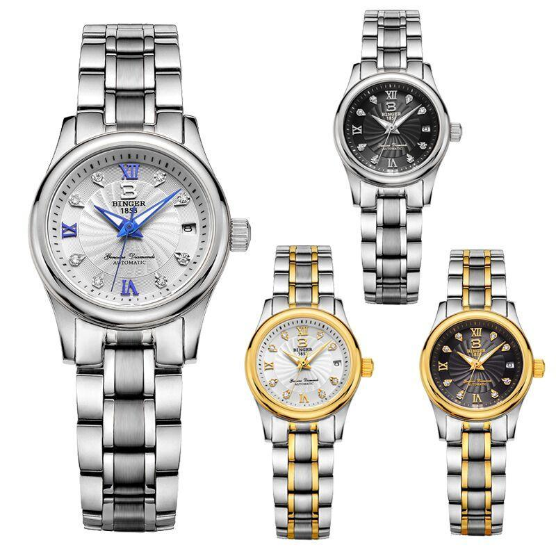 Armbanduhren Originalbinger 603L Geliebte Serie Mechanische Frauenuhr Paare Glitzernde Gnade Luxuriöse Business Mode Kristall