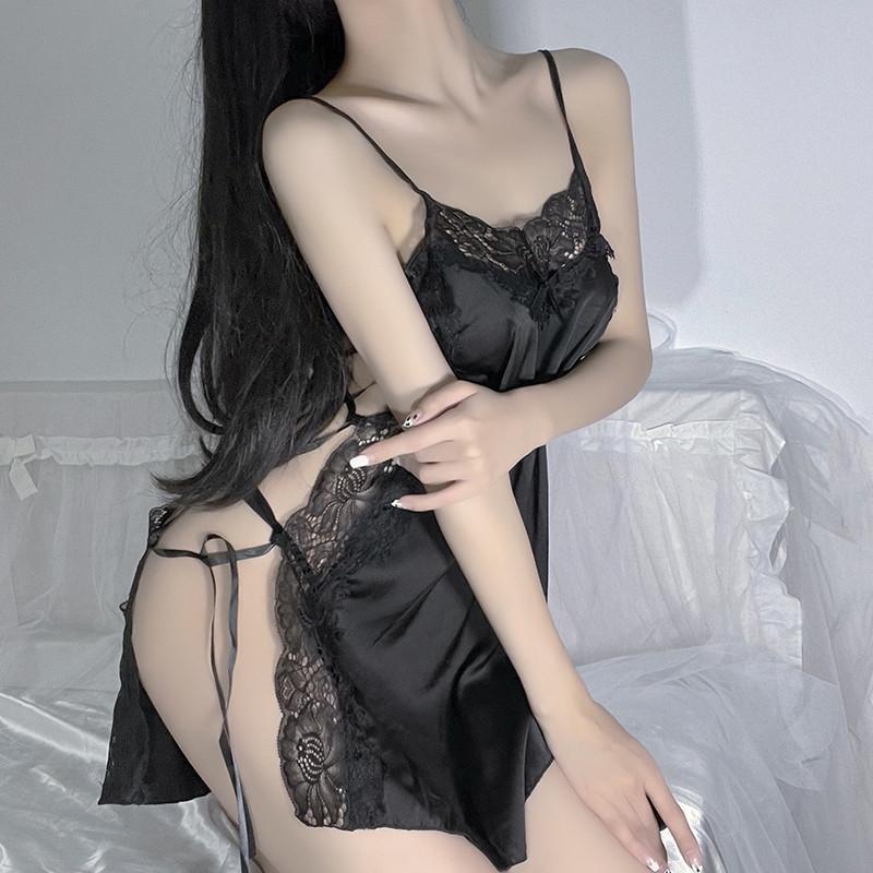 Sexy lingerie preto laço roupa interior para mulheres eróticas bonito nightwear porno outfit homewear conjunto com sleepwear bras conjuntos