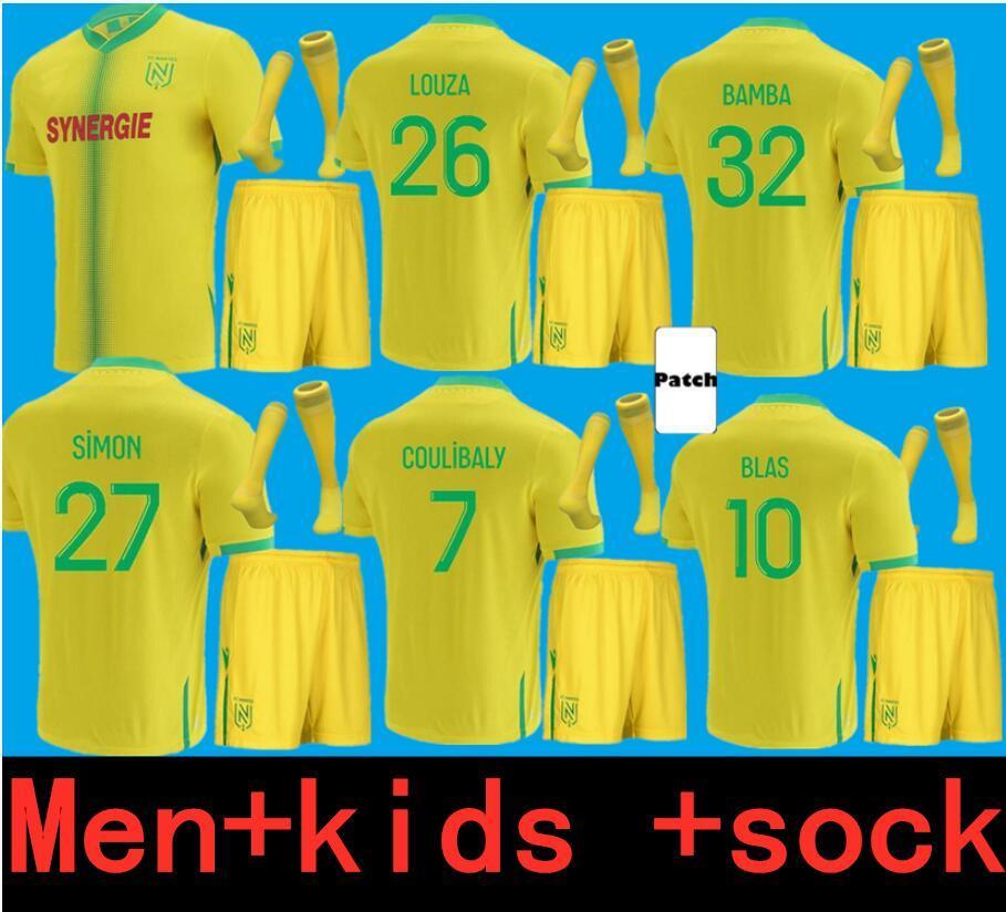 الكبار والأطفال 21 22 FC نانت لكرة القدم الفانيلة الاطفال المنزل بعيدا 2021 2022 لوزا بامبا سيمون كولو مواني blas coulibaly جيرسي كرة القدم قمصان