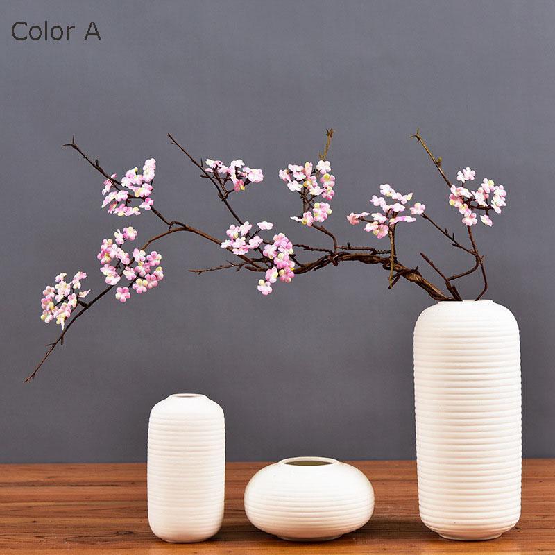 Вишневые цветы ветвь дерева искусственные шелковые цветы сакура ротанга кудо для осени дома украшения стола декор поддельных цветов декоративные венки