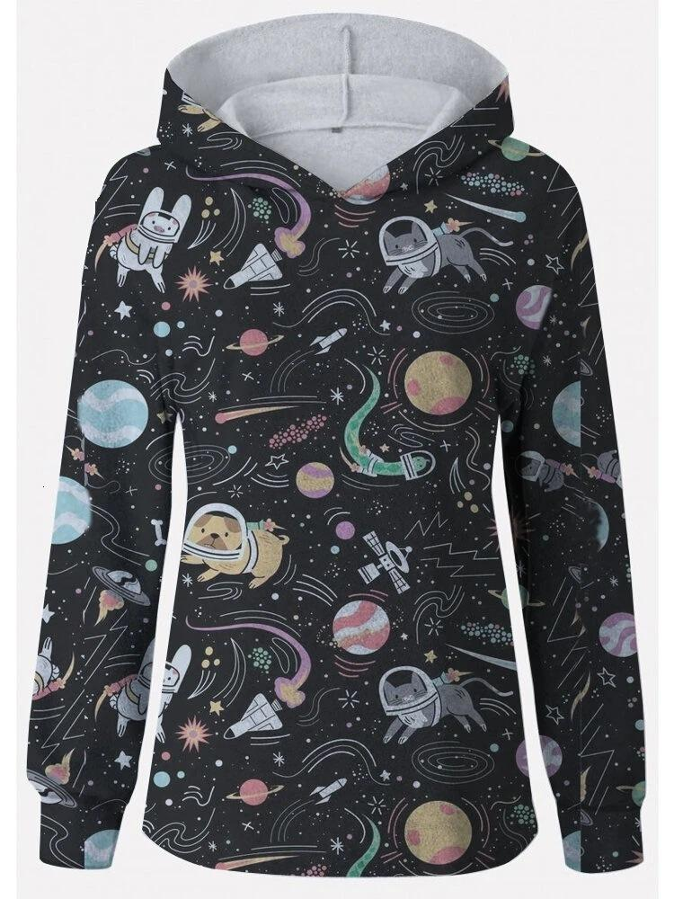 Primavera New Universe Star Impressão Série Casual Capuz Sweaterz0s1