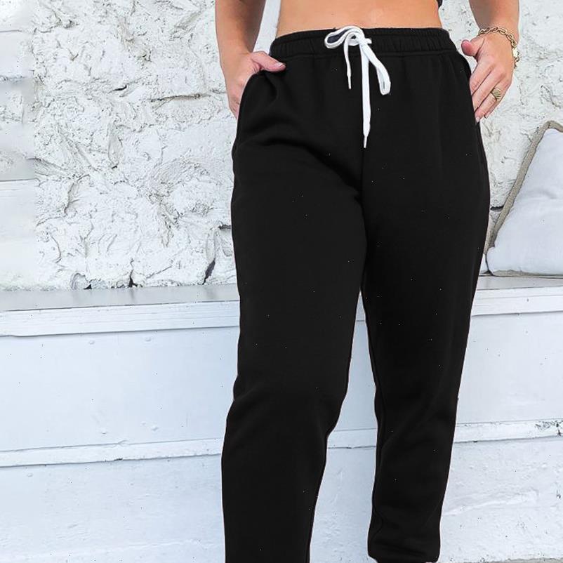 Autumn Women Pant Casual Gym Sweatpants Workout Fleece Trousers Fashion Solid Thin Winter Warm Female Sport Sweatpant