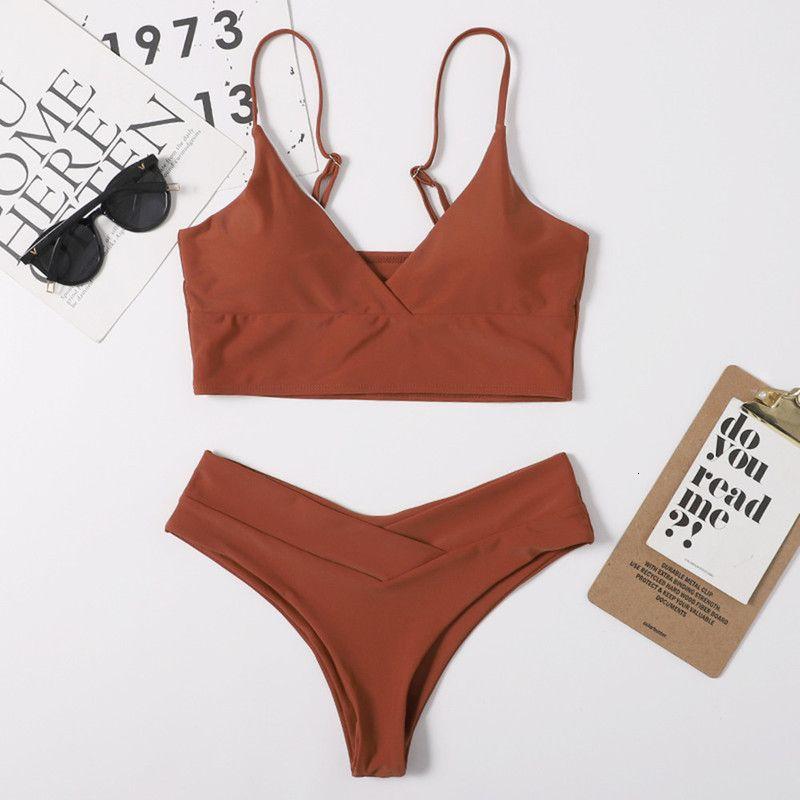 Solide 2021 Nylon Split Frauen Multi Color Swimsuit Bikini