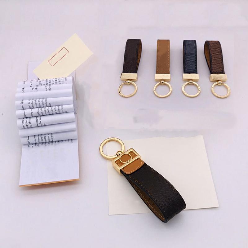패션 Luxurys 열쇠 고리 사슬 연인 자동차 키 체인 수제 가죽 디자이너 Keychains 남자 여성 가방 펜던트 액세서리 10 색