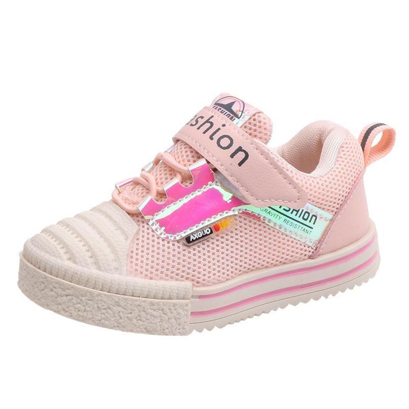 Sneakers Spor Ayakkabı Kızlar için Toddler Tenis Bebek Bebek Mesh Çalışan Tüm Sezon Parlayan Çocuklar 1ge +