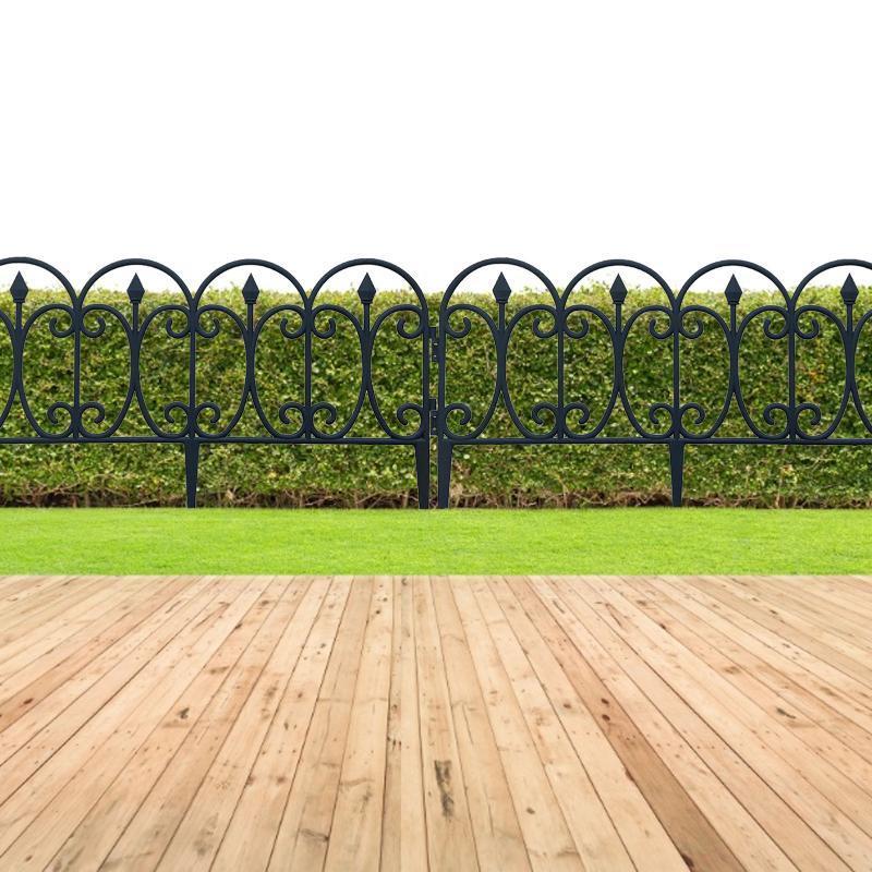Eskrim, TRELLIS GATES 4 ADET Plastik Eskrim Bariyer DIY Mini Peyzaj Peri Bahçe Figürinler Minyatürleri Flowerbeds Border Kenar Düğün AC