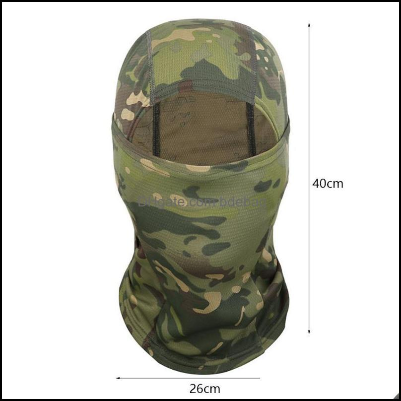 Protective Gear Cycling Sports Outdoorscycling Caps & Masks Tactical Balaclava Cp Fl Face Neck Scarf Head Warmer Outdoor Hunting Hiking Skii