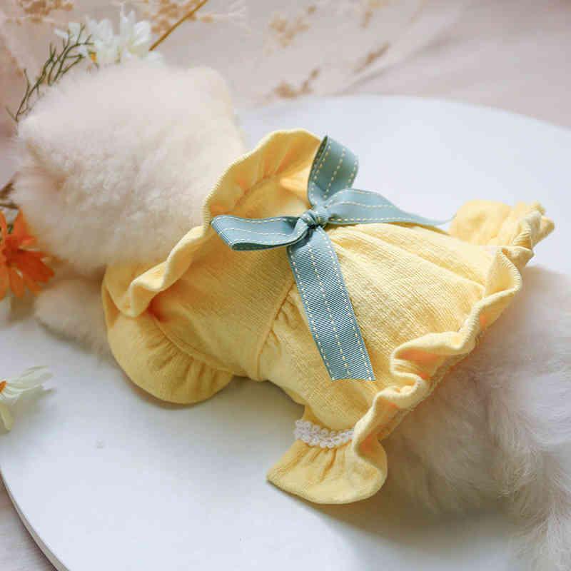 Perro Vestidos de invierno Lujo Frilly Princess Elegante Bow Falda suave Ropa para Puppy Chihuahua Teddy Yorkie Ropa Disfraz de PET