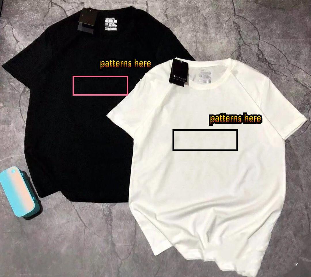 Hombre Mujeres camisetas verano camiseta 2021 de manga corta de lujo Top diseñador de la marca Carta de moda de algodón Hip Hop Lady Casual Ropa 181