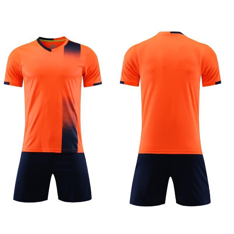 2021 Jersey de futebol conjuntos de futebol camisa de futebol e mulheres de treinamento adulto terno quadro de luz personalidade de manga curta infantil 05