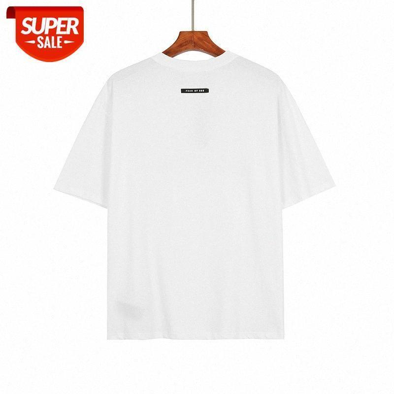 Medo de Deus Luxury Designer Roupas Mulheres Mulheres Homens Camiseta Gymshark Travis Scott 2021 Essentials Verão Caixas de Linhas Duplas e