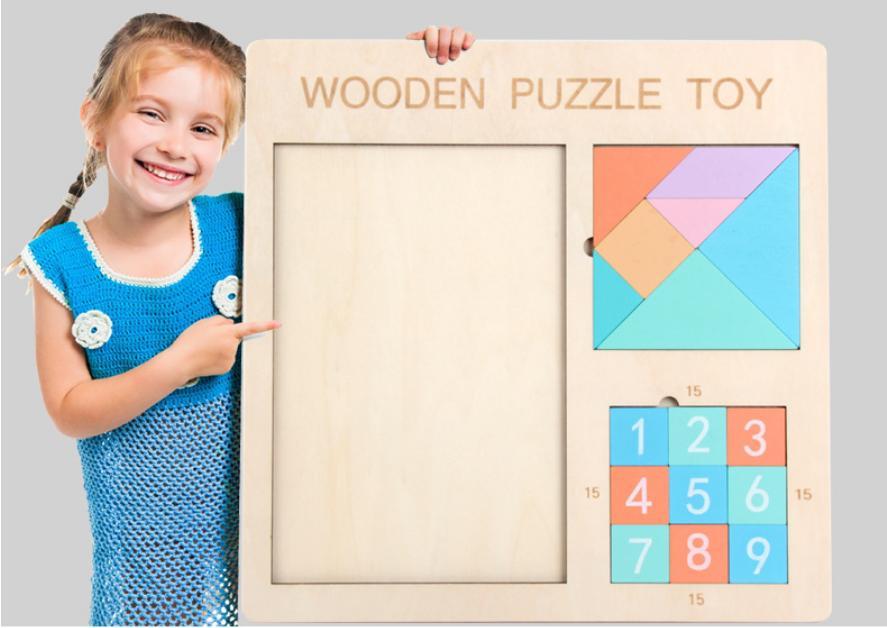 Dijital Huarong Yolu Tetris Tangram Üç-in-One Bulmaca Gelişimi Erkek, Kız ve Çocuk Oyuncakları