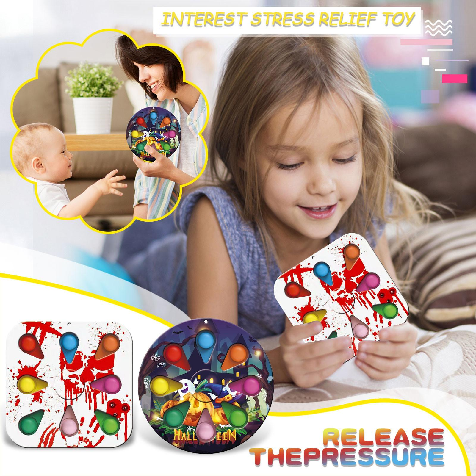 Nueva punta de dedo de Halloween Juego de descompresión Juguete Spinning Top Running Stress Relief Gyro Push Bubble Gifts Gifts