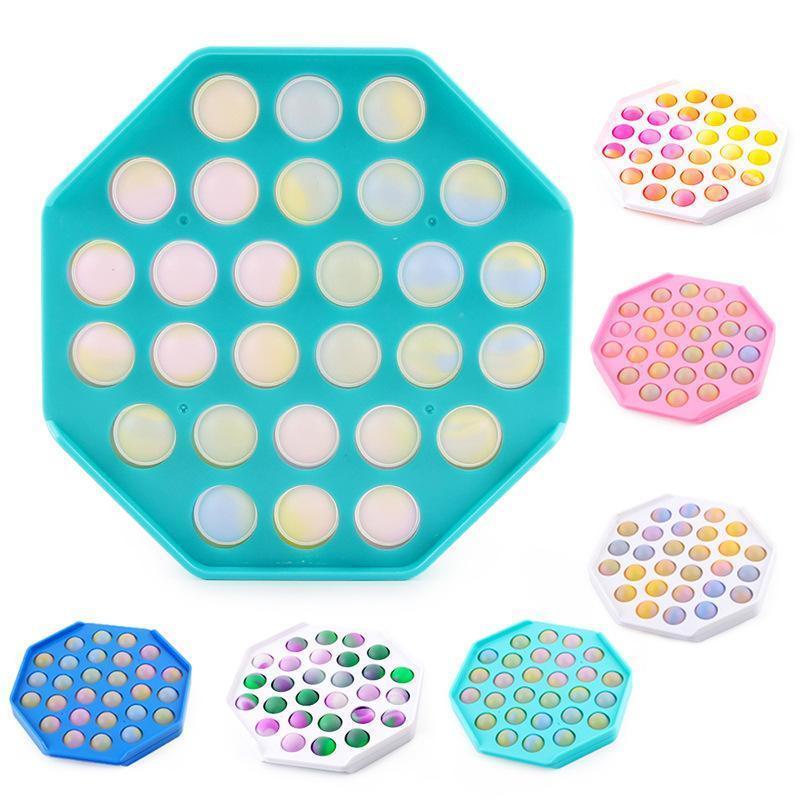 압축 해제 장난감 장난감 Fidget Sensory Push Bubble 보드 게임 불안 스트레스 reliever 어린이 자폐증 특별 요구 판매
