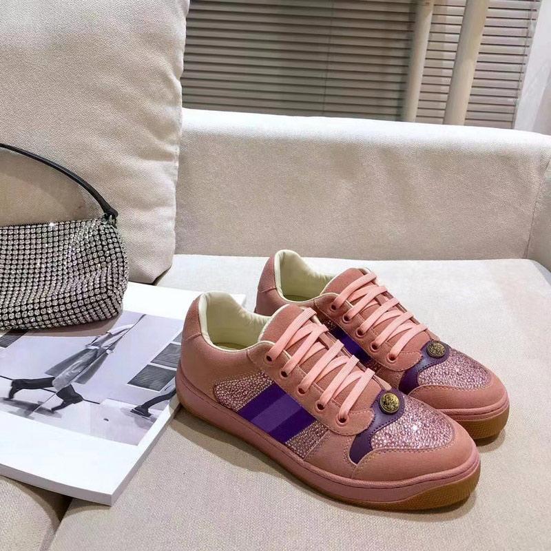 Scarpa classica Vera pelle da sneakers in pelle Mocassini Lace Up Low Top Moda Donna Lussurys Designer Designer Scarpe Scarpe formatori con scatola Dimensione 35-40