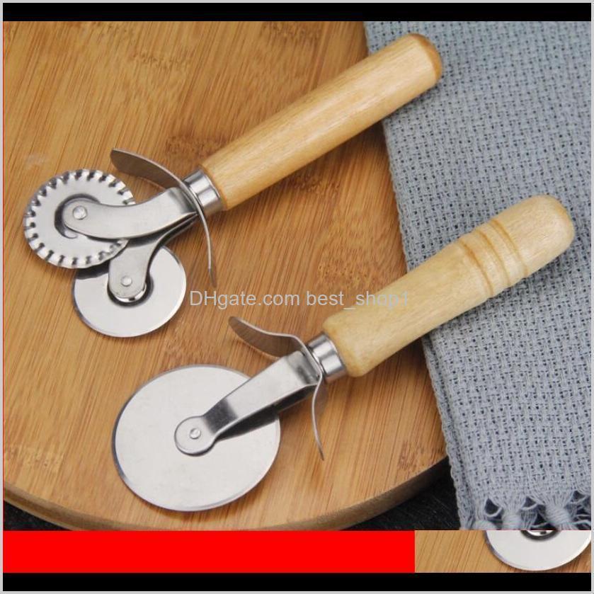 Redondo pizza cortador faca rolo clutc cortadores de aço inoxidável punho punho pastelaria nonstick ferramenta friccionador de roda com aderência ewc3763 ugyla jvl6x