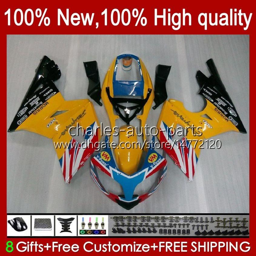 Bodywork Kit For Triumph Daytona 600 650 CC Daytona650 02-05 Cowling 104HC.9 yellow sale on Daytona600 2002 2003 2004 2005 Bodys Daytona 600 02 03 04 05 Full Fairings