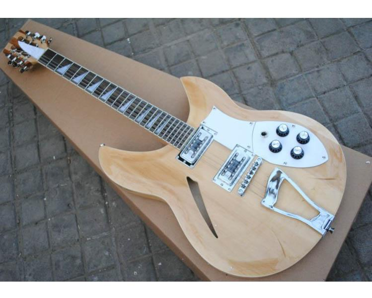 12 Strings Electric Guitars Semi hollody Body 330 381 Original Natural Wood China Guitar