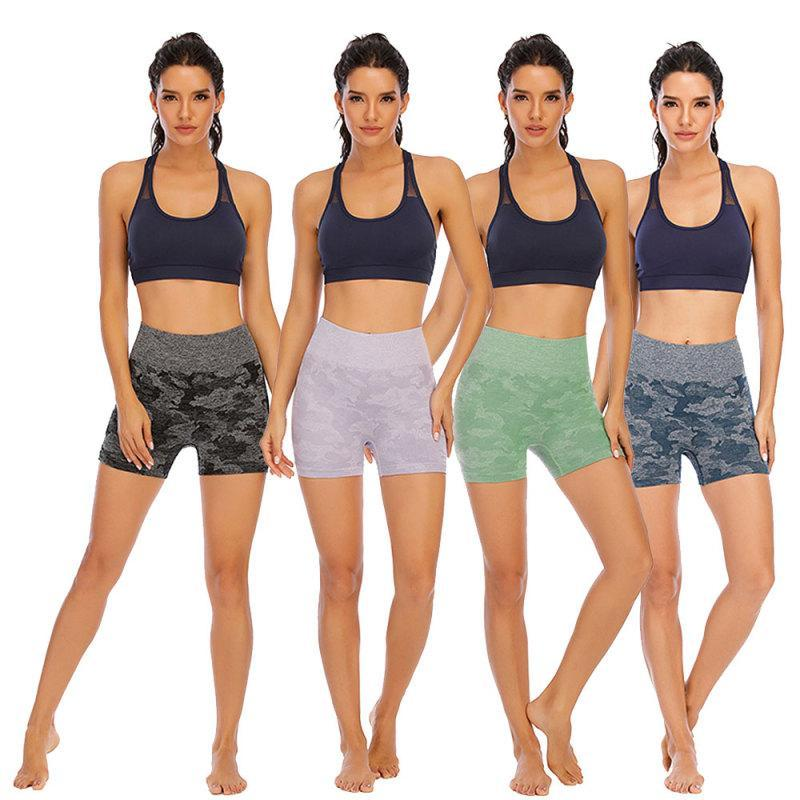 Женщины высокие талии спортивные шорты фитнес бегущие брюки тренажерный зал эластичные леггинсы летние брюки женские
