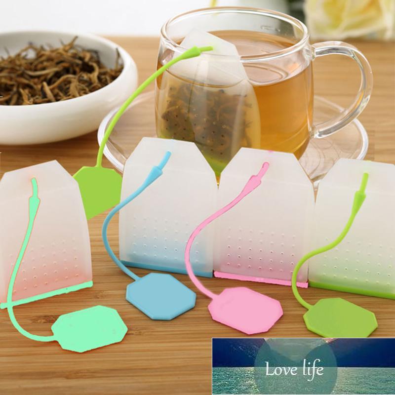 1 ADET Gıda sınıfı Silikon Çay Torbaları Renkli Stylestrainers Bitkisel Gevşek Demlik Filtreleri Kokulu Araçlar Mutfak Gadgets