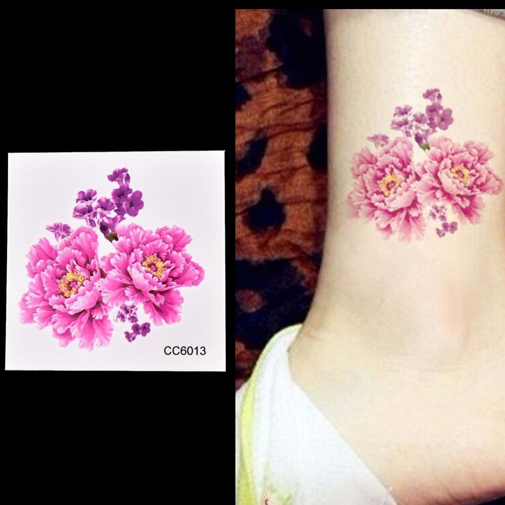 Vente en gros 3pcs Tatouages temporaires Stickers Fleurs Tatouage à l'épaule 6 * 6cm Étanche Lady Women Femmes Beauté sur Corps Art 2017 Nouveau