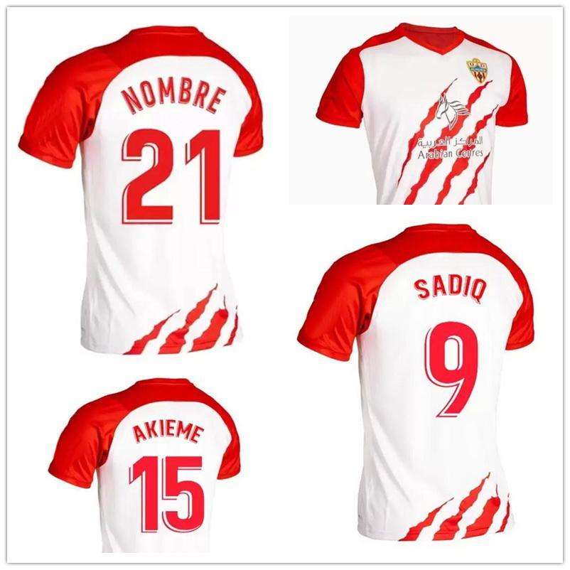 21-22 Home Thai Quality Soccer Jerseys Juan Villar # 7 Sadiq # 9 Dyego Sousa # 11 AKIME # 15 Dropshipping Akceptowane lokalne sklep internetowy Yakuda Najlepsze Sporty Dostosowane