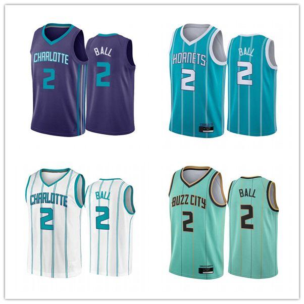 2021 Lamelo Ball.Charlotte.Hornets.Mint Green City Basketball Jersey